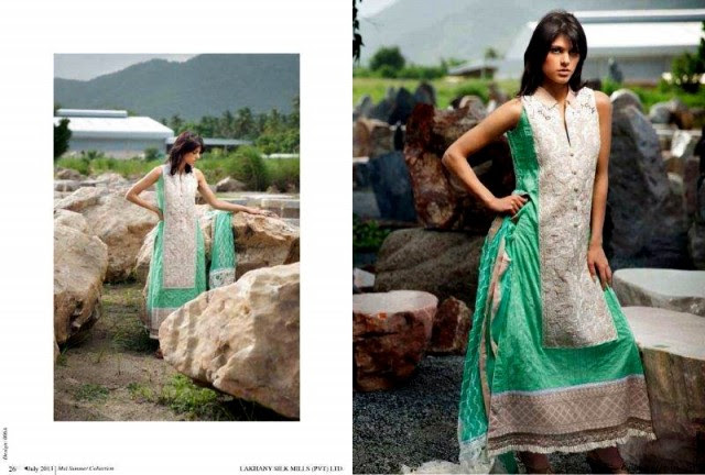 Beautiful-Cute-Girls-Models-Wear-Summer-Eid-Dress-Collection-2013-Lakhani-Silk-Mills-12
