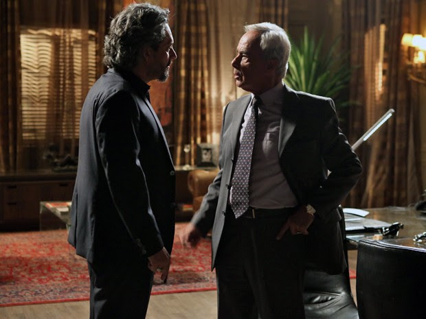 Zé Alfredo e Merival discutem na Império (Foto: Pedro Curi/ Gshow)