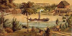 First steamship in Saimaa J G Fabritius.jpg