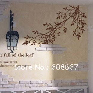 Free shipping Wall sticker tree branches bidrs Home Decor Fashion ...