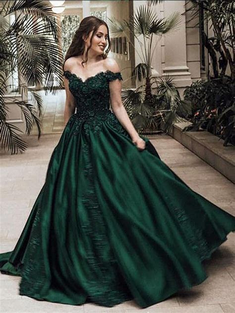 Ball Gown Off the Shoulder Sleeveless Floor Length Lace