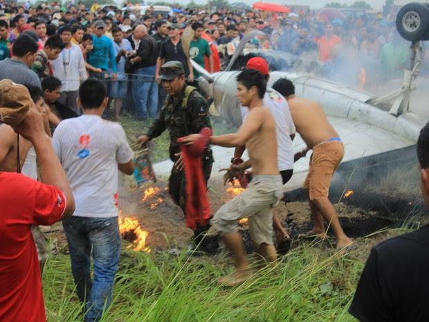 Acidente Bolívia  (Foto: Presidência bolviana )