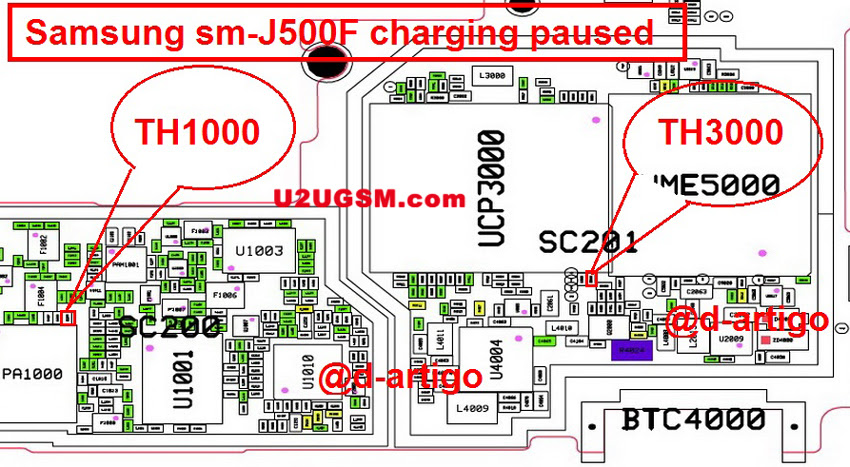 Samsung Galaxy J5 J500F Charging Paused Solution Jumpers