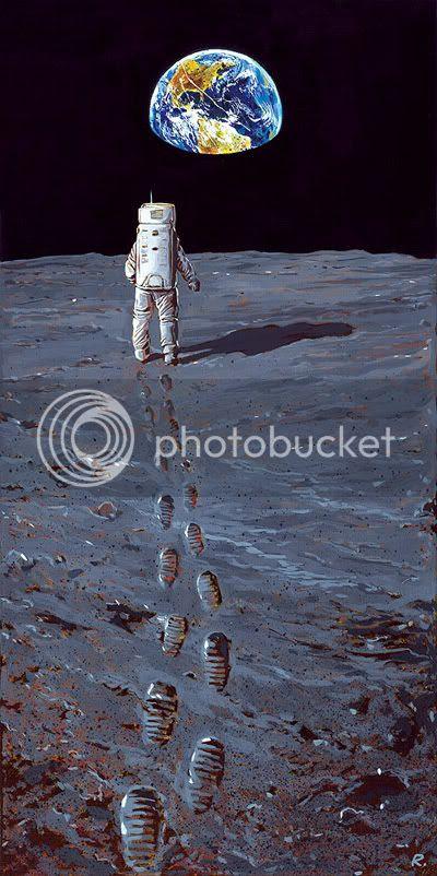 Graeme Neil Reid,Moon,Painting,Astronaut