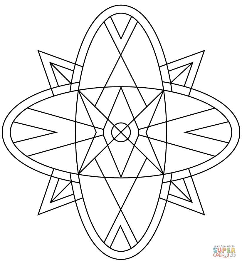 Kaleidoscope coloring page   Free Printable Coloring Pages