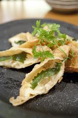 海老とチーズの湯葉巻き揚げ, とうふ創菜 Dining 蒼 AO, 神宮前