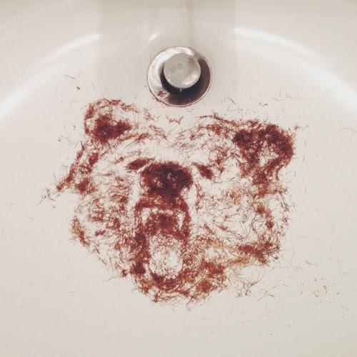 said goodbye to the bear on my face #beardhairbear #stubblesketch
