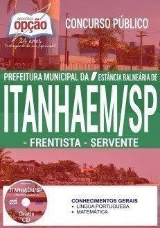 apostila para FRENTISTA e SERVENTE daConcurso Prefeitura de Itanhaém 2017