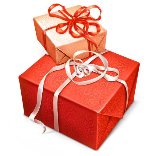 無料素材 赤とピンクのプレゼント箱のイラストアイコン素材誕生日や