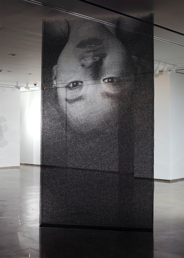 Ephemeral Portraits Cut from Layers of Wire Mesh by Seung Mo Park wire sculpture portraits