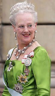 Tiaras of Danish Royal Family at Royal Wedding- Queen Margareth