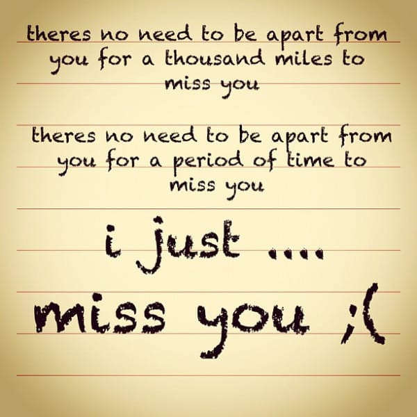 30 I Miss You Quotes Designbump