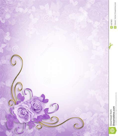 Wedding Roses Lavender Background Stock Illustration
