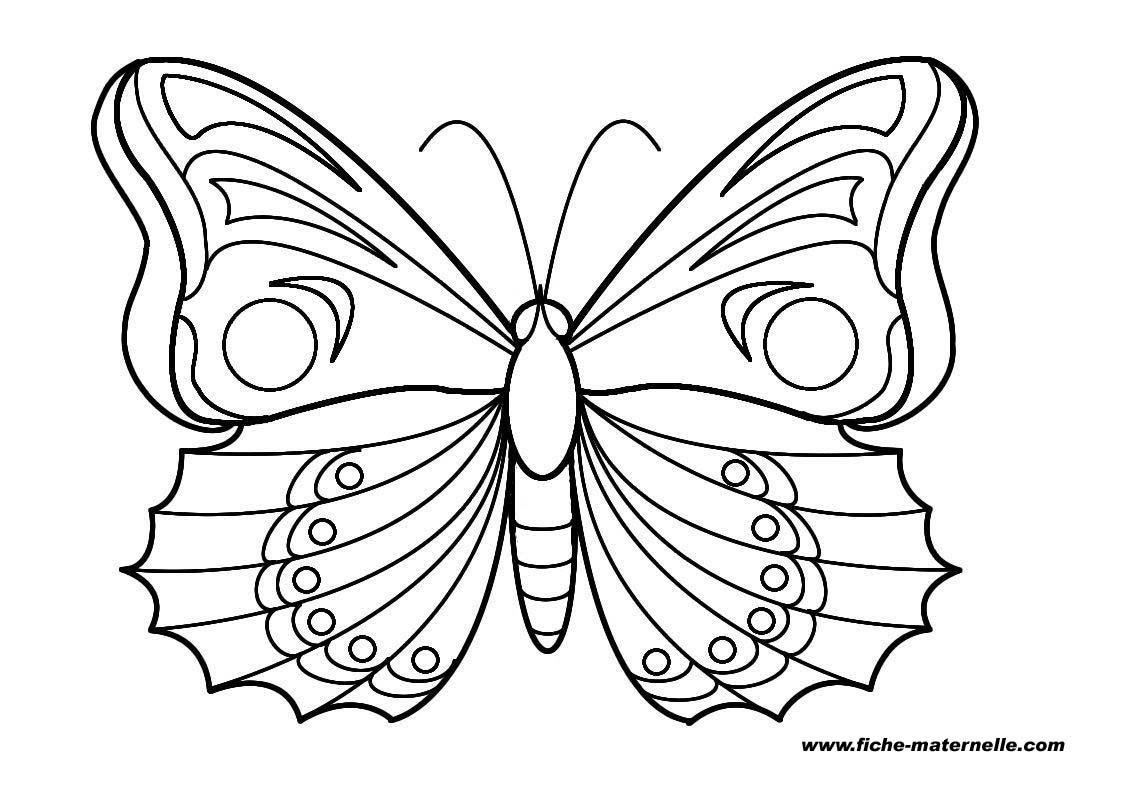 Coloriage gratuit de papillon a imprimer