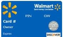 Walmart Credit Card Picture
