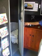 mobile library bus - interior - toilet