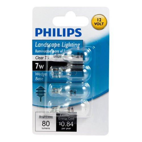 Philips 416957 Landscape Lighting 7 Watt T5 12 Volt Wedge Base Light Bulb New  eBay