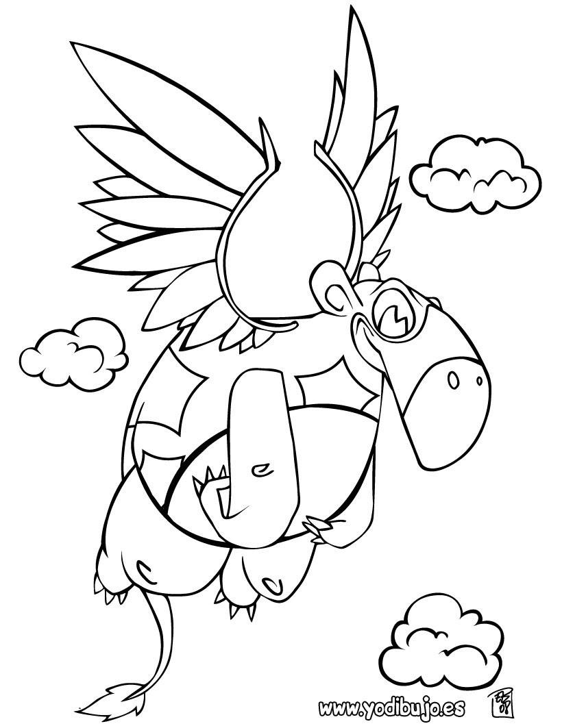Dibujos Para Colorear Dinosaurio Volador Eshellokidscom