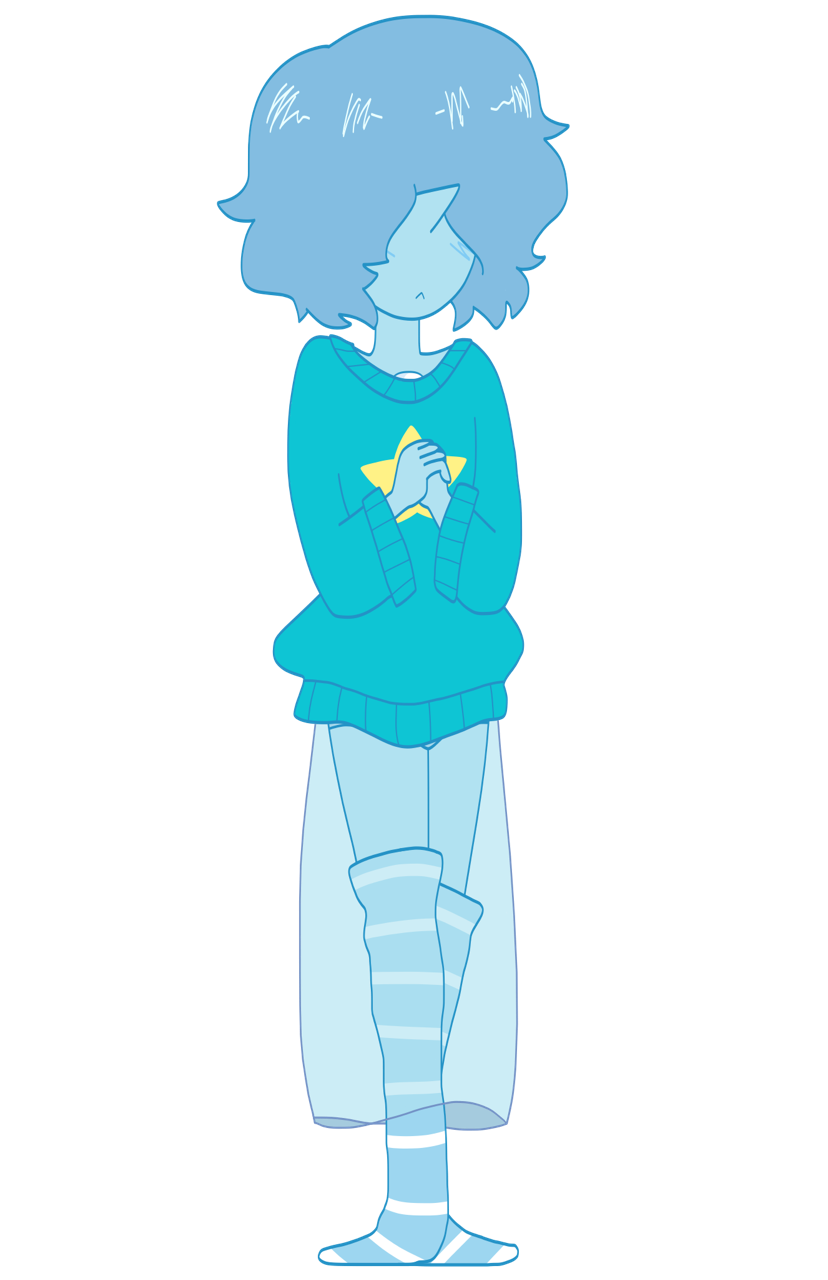 I was going to draw Blue Pearl in her regular clothes, but she looked so cold, so