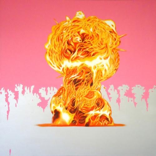 Estudo para explosão 1, 2010 - Study for explosion 1 Acrílica sobre tela -Acrylic on canvas 120 x 120cm