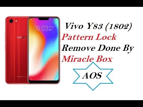 Vivo Y83 (1802) Pattern Lock Remove Done By Miracle Box