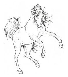 ausmalbilder pferde zum ausdrucken - malvorlagen