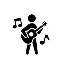 ギター演奏シルエット イラストの無料ダウンロードサイトシルエットac