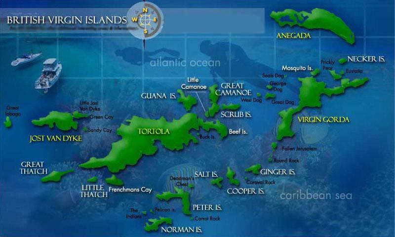 Map British Virgin Island