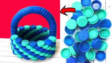 diy basket  plastic bottle caps ii    waste