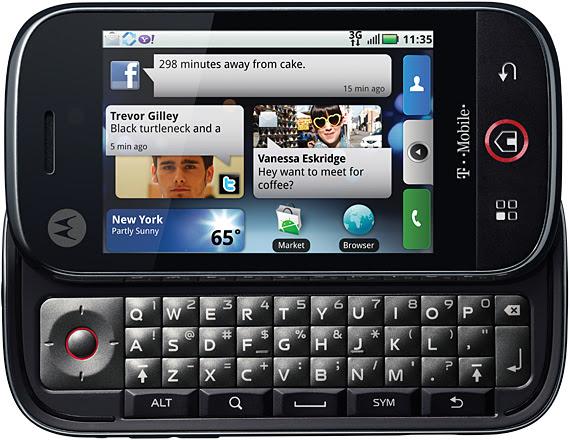 motorola cliq Top 10 Mobiles 2010
