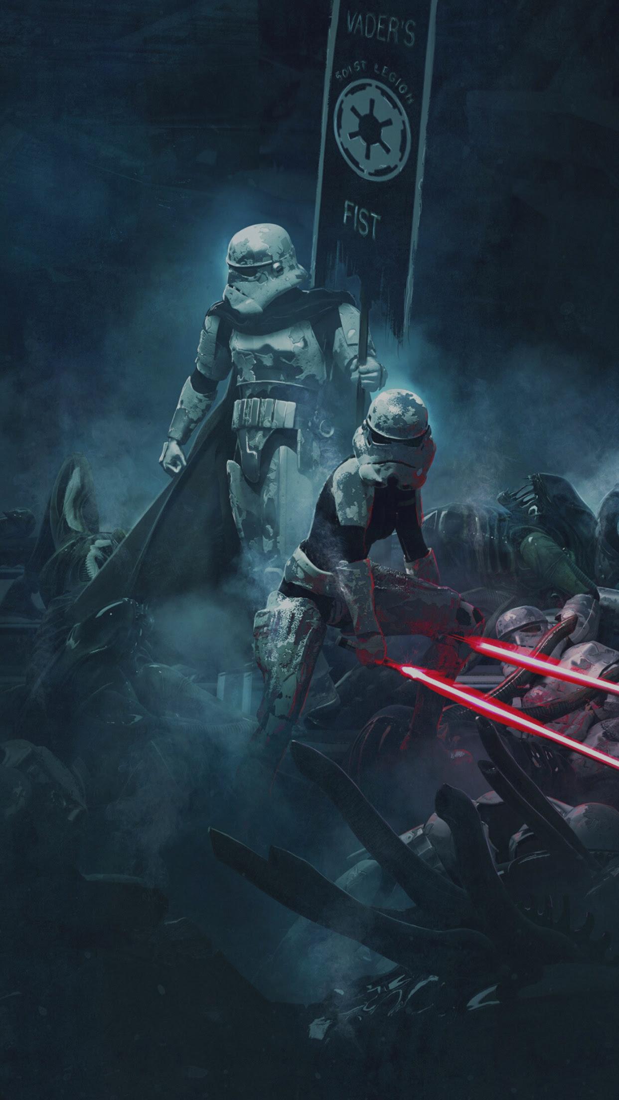 Awakens The Force Star Wars Stormtrooper Wallpaper Iphone