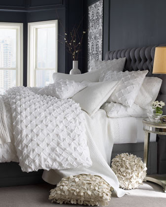 Puckered Diamond Bed Linens King Puckered Diamond Duvet Cover, 110 ...