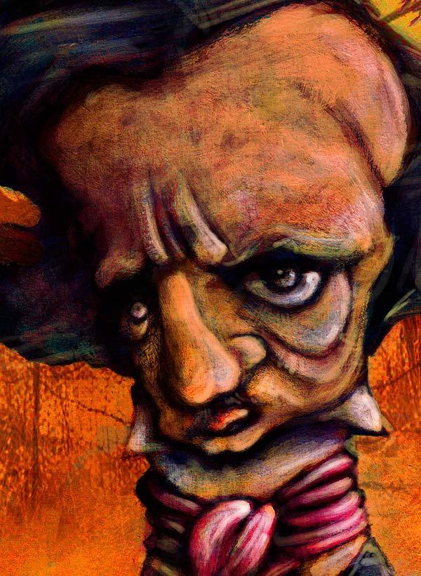 Poster Allan Poe. Por hache holguín