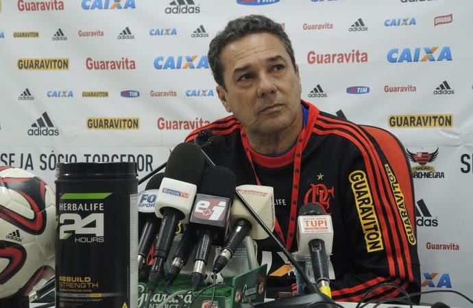 Flamengo Vanderlei Luxemburgo coletiva Ninho do Urubu (Foto: Sofia Miranda)