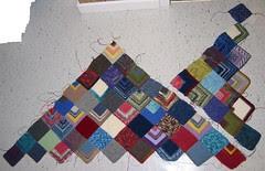 Sock Yarn Blanket WIP