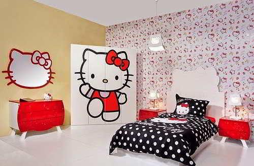 Desain Kamar Tidur Hello Kitty Keren Untuk Perempuan | RUMAH IMPIAN