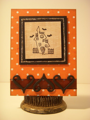 Halloween Card with Imaginisce Stamp