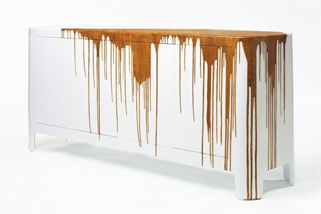 Damien Gernay's Dripping Wood Sideboard