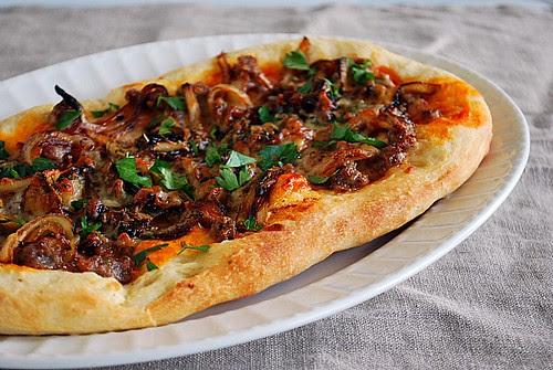 Sausage & Caramelized Onions Flatbread