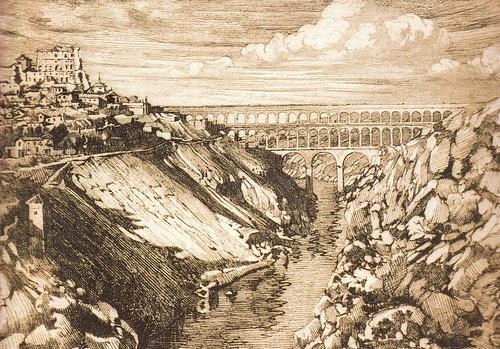 Recreación del acueducto romano de Toledo