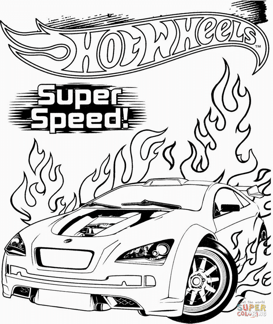 Ausmalbild: Hot Wheels Super Speed | Ausmalbilder ...