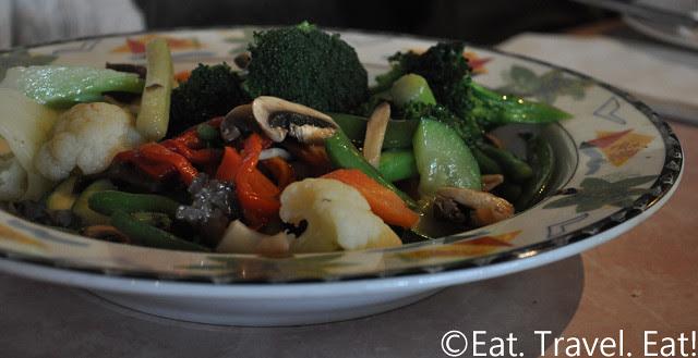 Sesame Grill: Vegetables in Garlic Wine Sauce
