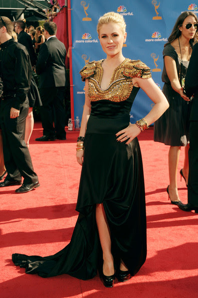 Anna Paquin Actress Anna Paquin arrives at the 62nd Annual Primetime Emmy Awards held at the Nokia Theatre L.A. Live on August 29, 2010 in Los Angeles, California.