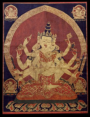 17th century Central Tibeten thanka of Guhyasa...
