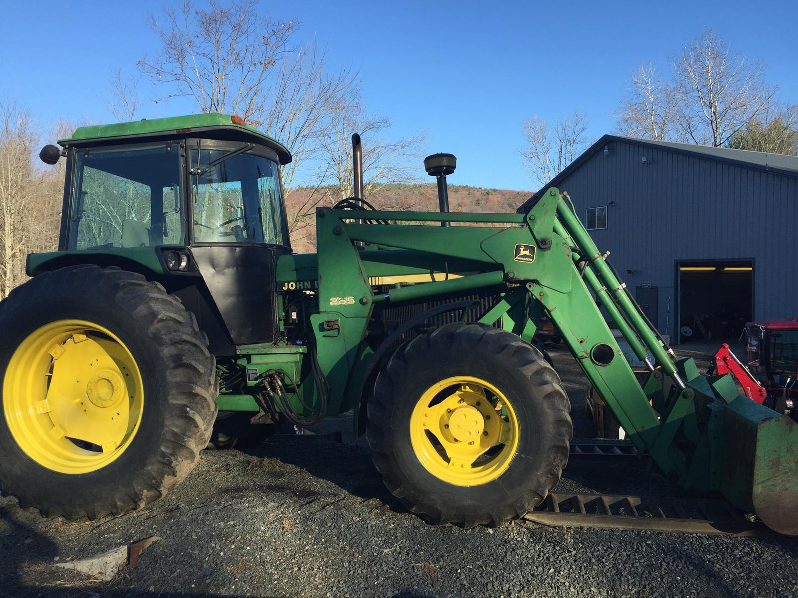 John Deere 3155 Tractor Loader W Cab 4x4 108hp W New Front Ag