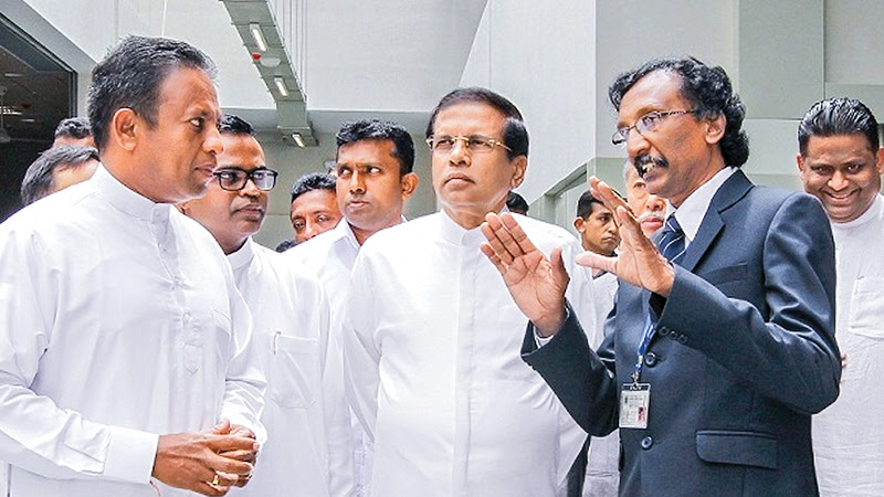 The new building of the National Apprentice and Industrial Training Authority (NAITA) Orugodawatte, was opened by President Maithripala Sirisena yesterday.Skills Development and Vocational Training Minister Chandima Weerakkody and ministers A.H.M. Fowzie, Deputy Speaker Thilanga Sumathipala including the recently sacked Deputy Minister Arundika Fernando were present. Picture by Sudath Silva.
