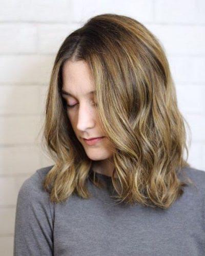Mittel Lange Haare Mit Blonden Strähnen Allefrisurende