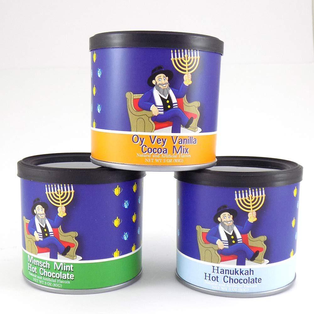 Hanukkah Gifts Mensch On The Bench Hot Cocoa Gift Set
