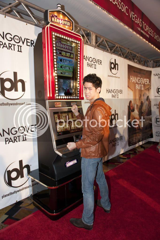 Mason Lee with The Hangover Slots