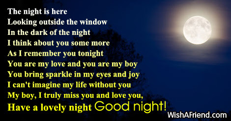 Good Night Poems For Him Cute Love Poems For Her Him Love